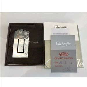 CHRISTOFLE CHERRY BLOSSOM SILVER PLATED BOOKMARK